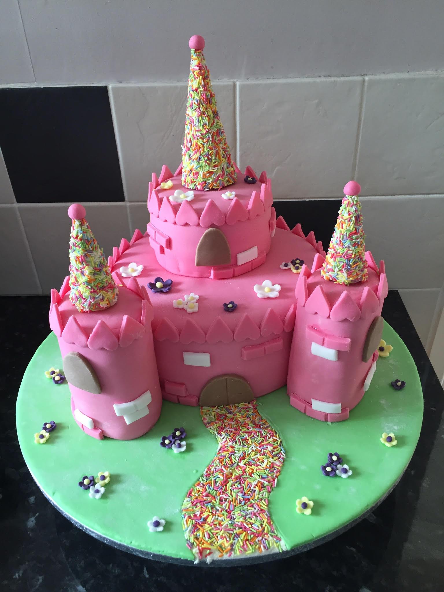 Superb Castle Birthday Cake Personalised Birthday Cards Petedlily Jamesorg